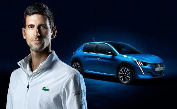 Peugeot e208 Novak Djokovich