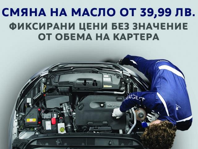 Peugeot Service 8 plus oil change